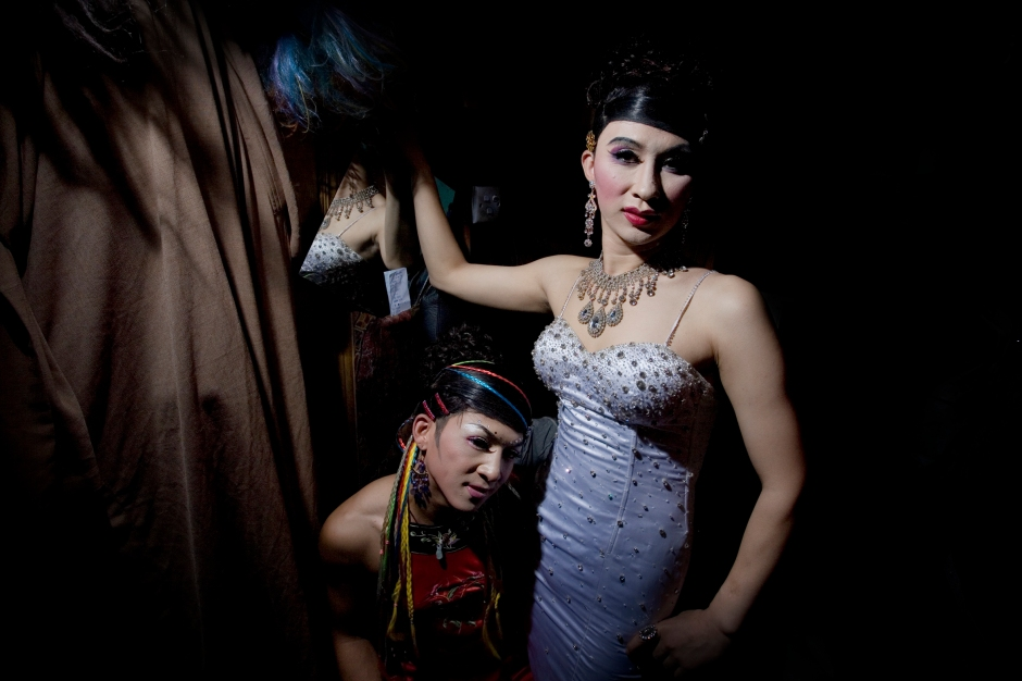Chinese drag queen iat the Urban Love Island club in Beijing